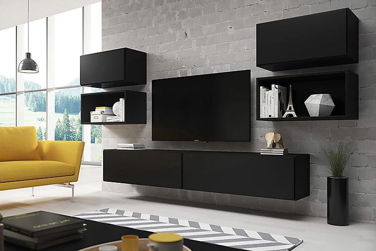 Roco Mediamøbler - Grå / Hvit - Møbler - Møbelsett - Møbelsett til stue