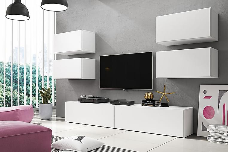 Roco Mediamøbler - Hvit - Møbler - Møbelsett - Møbelsett til stue