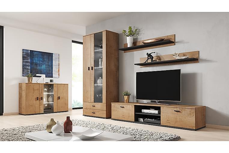 Soho Stuesett - Eik/Svart - Møbler - Møbelsett - Møbelsett til stue
