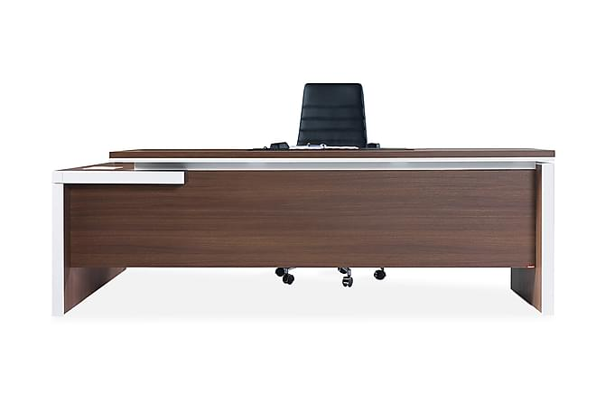 Jeu Kontormøbelsett 230 cm - Valnøtt|Hvit - Møbler - Møbelsett - Møbelsett til kontor