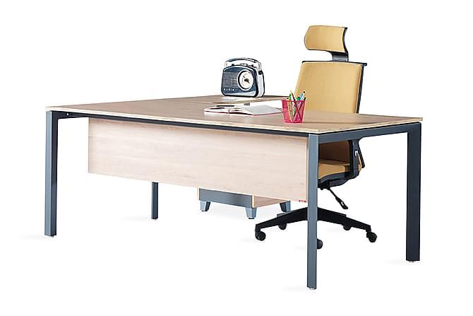 Mcroy Kontormøbelsett 120 cm - Eik|Svart - Møbler - Møbelsett - Møbelsett til kontor