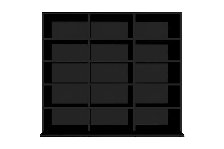 CD-skap høyglans svart 102x16x89,5 cm sponplate - Møbler - Medie- & TV-møbler - CD-hylle & DVD-hylle