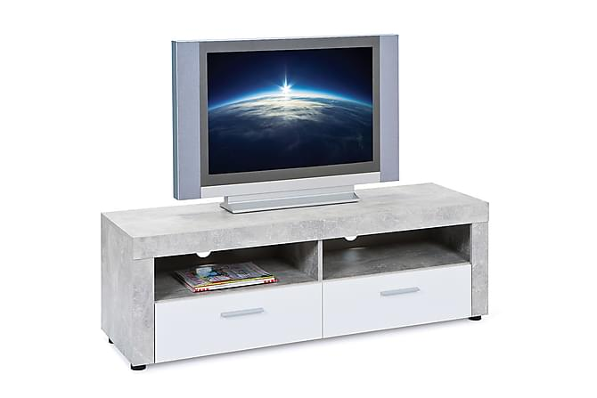 Abisko TV-benk 134 cm - Grå/Hvit - Møbler - Medie- & TV-møbler - TV-benk & mediabenk