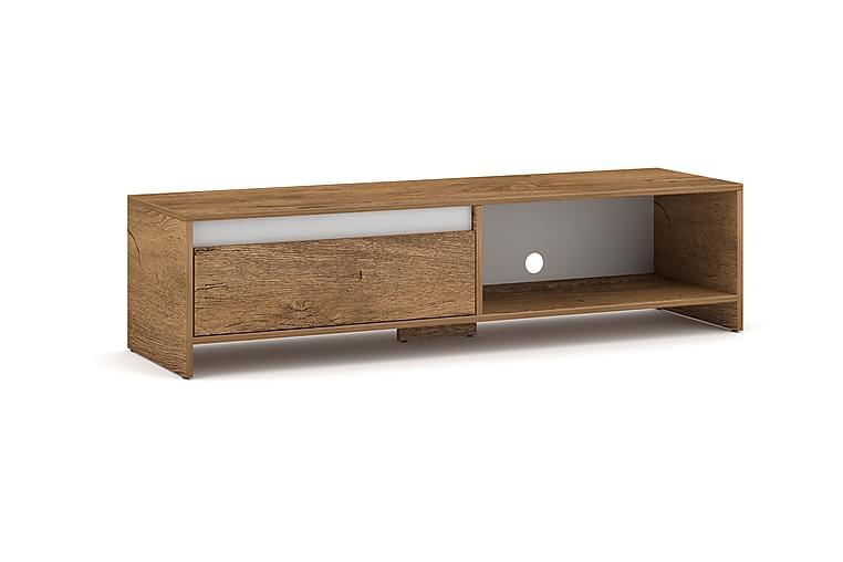 Almerine TV-benk 140x35 cm - Hvit - Møbler - Medie- & TV-møbler - TV-benk & mediabenk