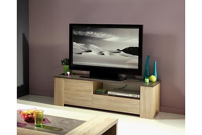 Alvina TV-benk 138 cm - Brun/Grå - Møbler - Medie- & TV-møbler - TV-benk & mediabenk