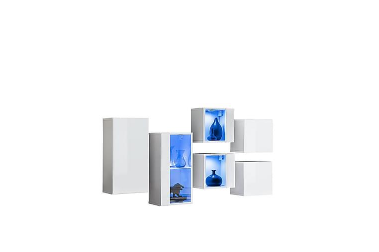 Apryl Tv-benk 120 cm - Hvit - Møbler - Medie- & TV-møbler - TV-benk & mediabenk