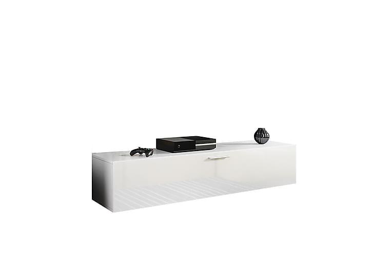 Ashengrove TV-Benk 150 cm - Hvit Høyglans - Møbler - Medie- & TV-møbler - TV-benk & mediabenk