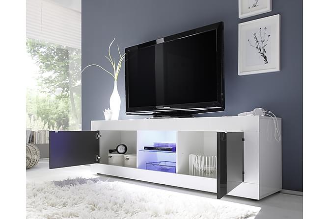 Basic TV-benk 181 cm - Hvit/Antrasitt - Møbler - Medie- & TV-møbler - TV-benk & mediabenk
