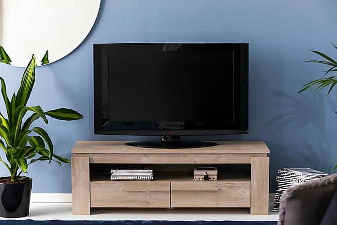 Castillo TV-benk 140 cm - Eik/Champagne - Møbler - Medie- & TV-møbler - TV-benk & mediabenk
