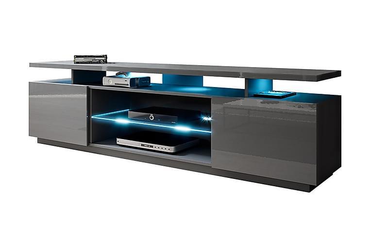 Ceasar TV-benk med LED - Grå - Møbler - Medie- & TV-møbler - TV-benk & mediabenk