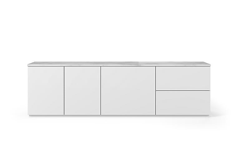 Colesar TV-benk med 2 Skuffer Marmor - Møbler - Medie- & TV-møbler - TV-benk & mediabenk