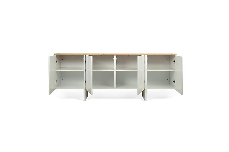 Coork TV-benk 200 cm - Hvit/Eik - Møbler - Medie- & TV-møbler - TV-benk & mediabenk