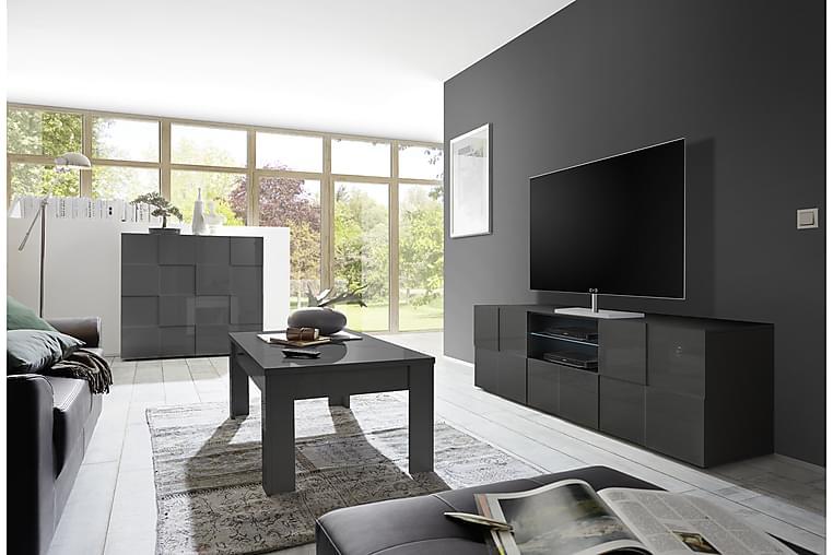 Dama TV-benk 181 cm Stor - Grå - Møbler - Medie- & TV-møbler - TV-benk & mediabenk