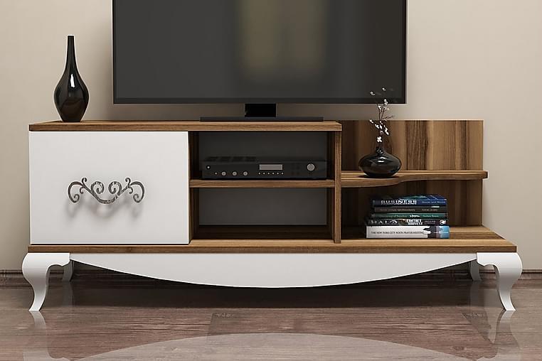 Hovdane TV-Benk 130 cm - Brun/Hvit - Møbler - Medie- & TV-møbler - TV-benk & mediabenk