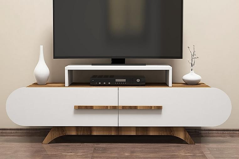 Hovdane TV-Benk 145 cm - Brun/Hvit - Møbler - Medie- & TV-møbler - TV-benk & mediabenk