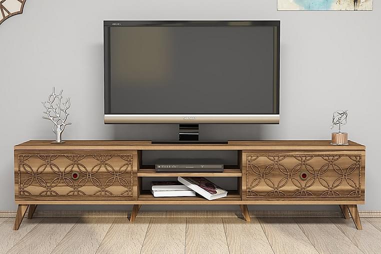 Hovdane TV-Benk 180 cm - Brun - Møbler - Medie- & TV-møbler - TV-benk & mediabenk