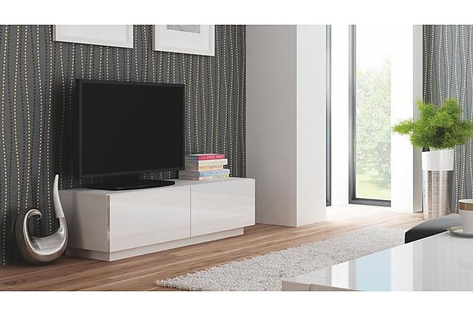 Livo TV-benk 160 cm - Hvit - Møbler - Medie- & TV-møbler - TV-benk & mediabenk