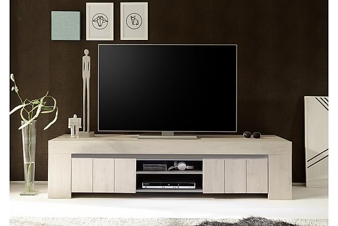 Modernistisk Palmira TV-benk 191 cm Stor - Hvit/Eik | Trademax.no YC-95