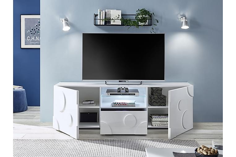 Roundi TV-benk 181x42 cm - Hvit Highlighter - Møbler - Medie- & TV-møbler - TV-benk & mediabenk