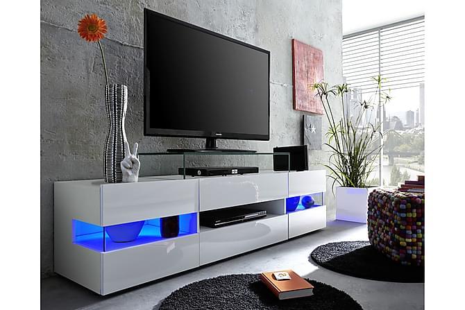 Shiny TV-benk 169 cm - Hvit Høyglans - Møbler - Medie- & TV-møbler - TV-benk & mediabenk