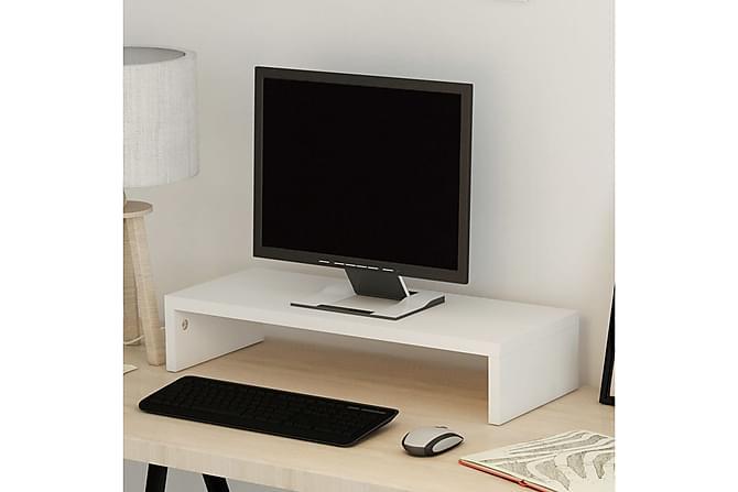 Skjermstativ sponplate 60x23,5x12 cm hvit - Møbler - Medie- & TV-møbler - TV-benk & mediabenk