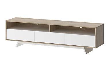 Smart TV-møbel Hvit/Eik