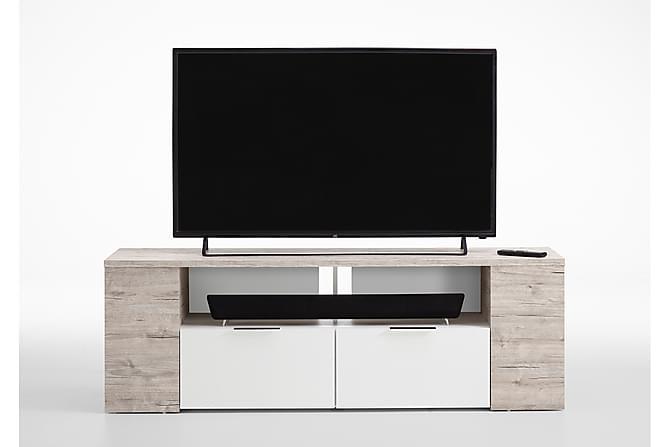 Tabor TV-benk 150 cm - Hvit/Lys Eik - Møbler - Medie- & TV-møbler - TV-benk & mediabenk