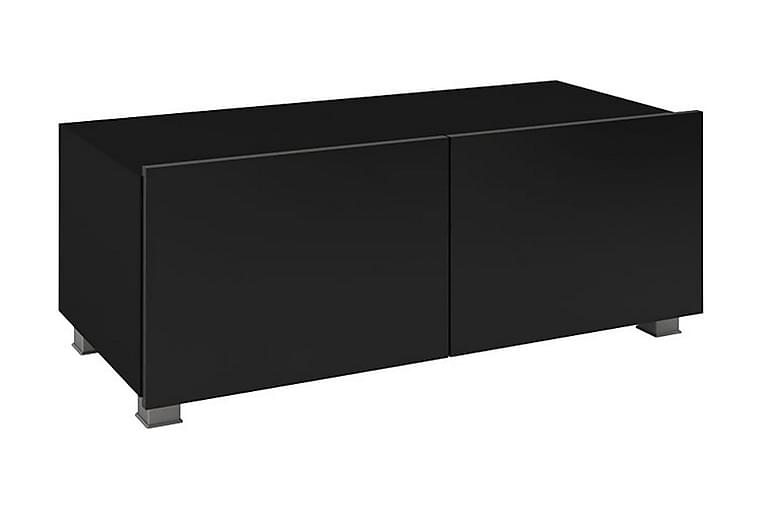 Tessan TV-benk 100 cm Liten - Svart - Møbler - Medie- & TV-møbler - TV-benk & mediabenk