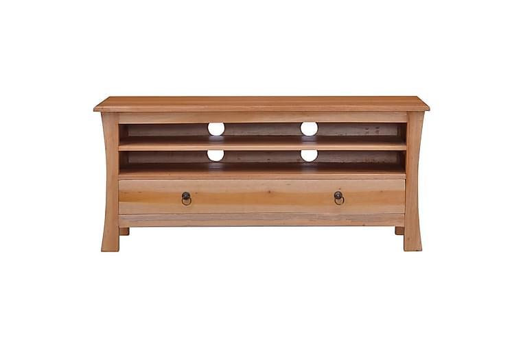 TV-benk 100x30x45 cm heltre mahogni - Brun - Møbler - Medie- & TV-møbler - TV-benk & mediabenk