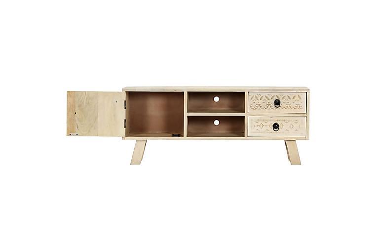 TV-benk 110x30x44 cm heltre mangotre - Beige - Møbler - Medie- & TV-møbler - TV-benk & mediabenk