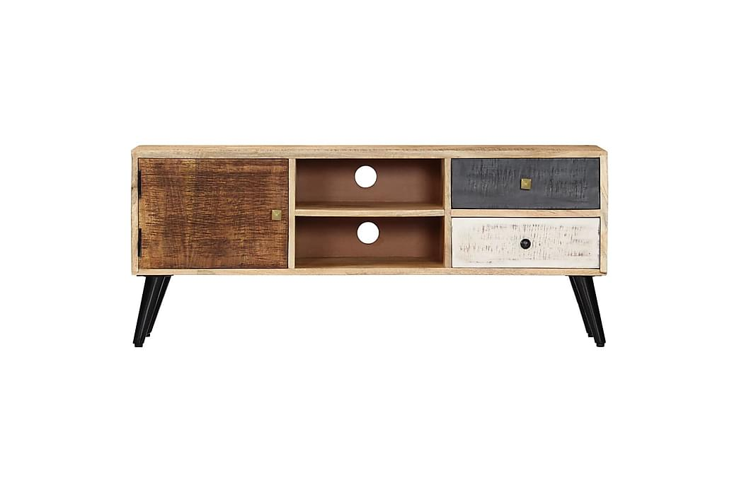 TV-benk 115x30x47 cm heltre mango - Brun - Møbler - Medie- & TV-møbler - TV-benk & mediabenk