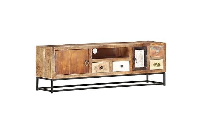 TV-benk 120x30x40 cm gjenvunnet heltre - Møbler - Medie- & TV-møbler - TV-benk & mediabenk