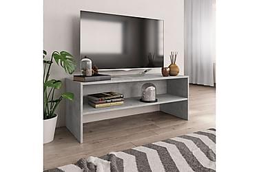 TV-benk betonggrå 100x40x40 cm sponplate