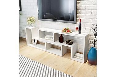 TV-Benk Dobbel L-Formet Hvit