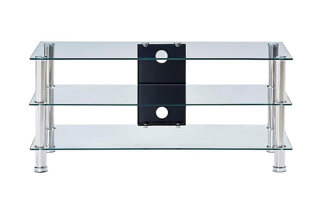 TV-benk gjennomsiktig 90x40x40 cm herdet glass - Møbler - Medie- & TV-møbler - TV-benk & mediabenk