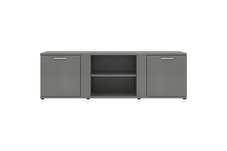 TV-benk grå 120x34x37 cm sponplate - Grå - Møbler - Medie- & TV-møbler - TV-benk & mediabenk