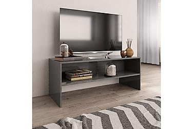 TV-benk høyglans grå 100x40x40 cm sponplate