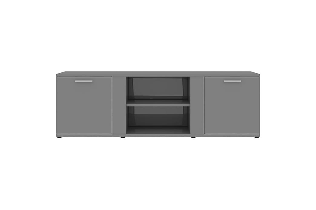 TV-benk høyglans grå 120x34x37 cm sponplate - Grå - Møbler - Medie- & TV-møbler - TV-benk & mediabenk