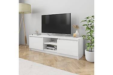 TV-benk høyglans hvit 120x30x35,5 cm sponplate