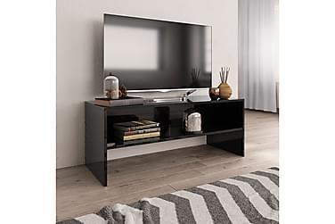 TV-benk høyglans svart 100x40x40 cm sponplate