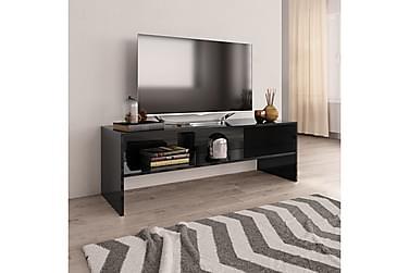 TV-benk høyglans svart 120x40x40 cm sponplate