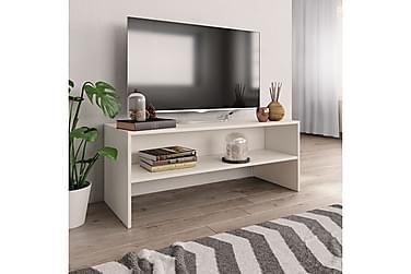TV-benk hvit 100x40x40 cm sponplate