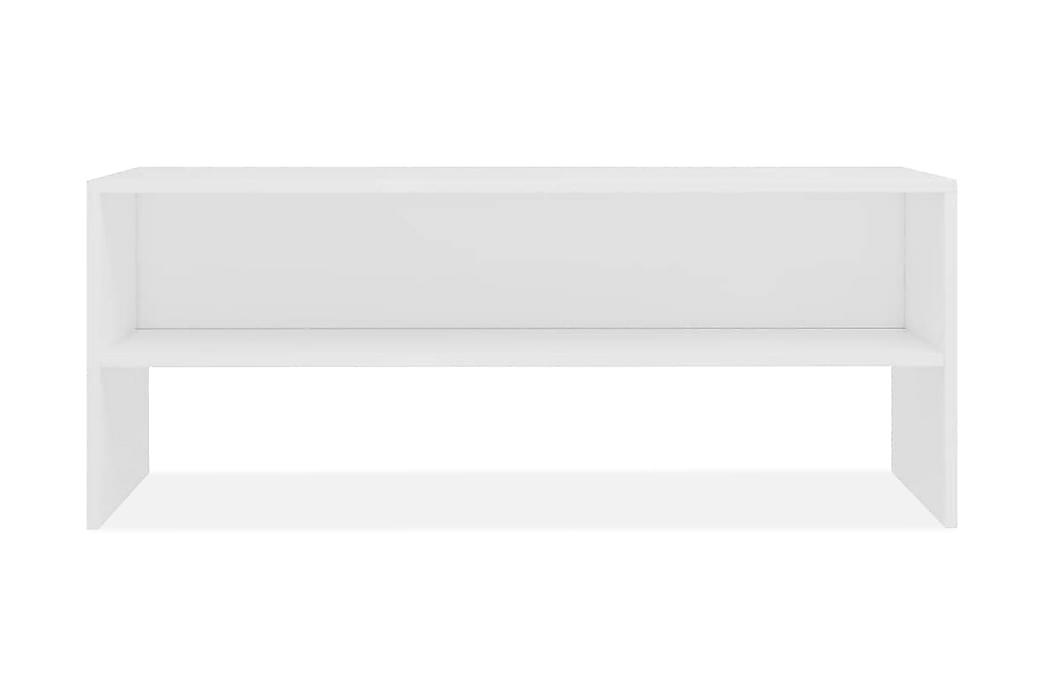 TV-benk hvit 100x40x40 cm sponplate - Hvit - Møbler - Medie- & TV-møbler - TV-benk & mediabenk