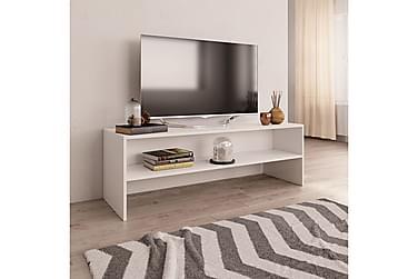 TV-benk hvit 120x40x40 cm sponplate