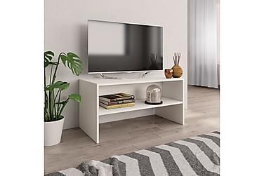 TV-benk hvit 80x40x40 cm sponplate