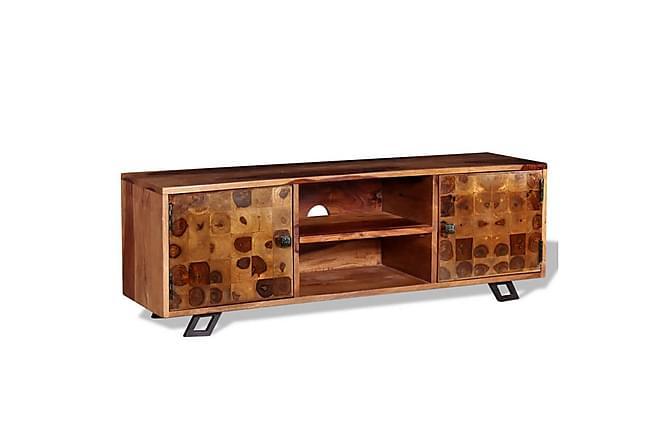 TV-benk massivt indisk rosentre 120x30x40 cm - Møbler - Medie- & TV-møbler - TV-benk & mediabenk
