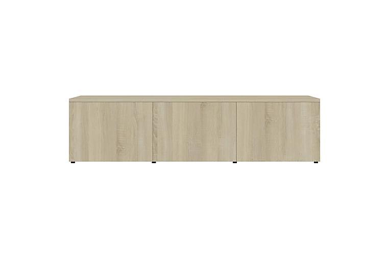TV-benk sonoma eik 120x34x30 cm sponplate - Møbler - Medie- & TV-møbler - TV-benk & mediabenk