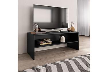 TV-benk svart 100x40x40 cm sponplate