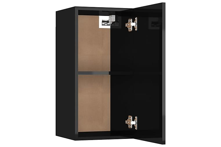 TV-benker 2 stk høyglans svart 30,5x30x60 cm sponplate - Svart - Møbler - Medie- & TV-møbler - TV-benk & mediabenk