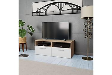 TV-kabinett sponplate 95x35x36 cm eik og hvit